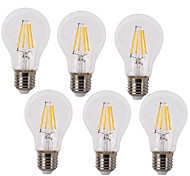 4W E26/E27 LED Filament Bulbs A60(A19) 4 COB 400 lm Warm White / Cool White AC 220-240 V 6 pcs