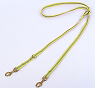 Dog Leash Adjustable/Retractable / Casual Stripe Green Fabric / Nylon