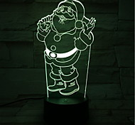 Santa Claus Lamp Light Colorful Touch Remote Control LED 3D Visual Light Atmosphere Table Lamp