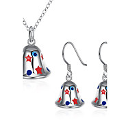 Xmas Theme Fashion Jewelry Nacklace Drop Earrings Sets For Women Ladies Girls Chritmas Gift Hot Sale SPCS920
