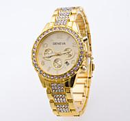 Hombre Reloj Deportivo Reloj de Vestir Reloj de Moda Reloj de Pulsera Simulado Diamante Reloj Cuarzo Esfera Grande Aleación Banda Encanto