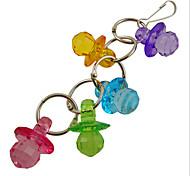 многоцветные портативный металл акриловая птица игрушки 1шт