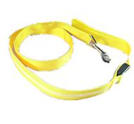 Dog Leash LED Lights Solid Green / Blue / Pink / Yellow / Orange Nylon