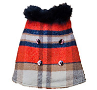 Hunde Mäntel Jacke Rot Hundekleidung Winter Frühling/Herbst Plaid/Karomuster Modisch warm halten