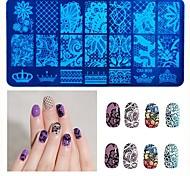 1pcs 6X12cm Nail Stamping Template Charm  Nail Art  Nail Stamp Tools