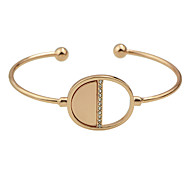 Silver Rose Gold Color Metal Thin Cuff Bangle Bracelet