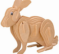 Jigsaw Puzzles Wooden Puzzles Building Blocks DIY Toys Rabbit 1 Wood Ivory Model & Building Toy