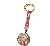 Porta-Chaves Hobbies de Lazer Porta-Chaves / Diamante / Vislumbre Circular Metal Rose