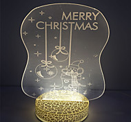 2W Warm White Color 3D Effect for Christmas Decorative Custom Led Night Light