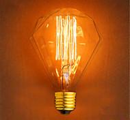 E27 220-240V G95 40W Diamond Straight Wire Bar Pendant Decorative Retro Light Bulbs