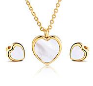 Gioielli 1 collana / 1 paio di orecchini Feste / Quotidiano / Casual 1 Set Da donna Oro / Argento Regali di nozze