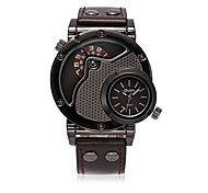 Men's Fashion Watch Quartz Leather Band Casual Black Brown Brand
