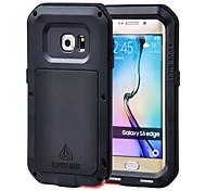 Para Funda Samsung Galaxy Agua / Polvo / prueba del choque Funda Cuerpo Entero Funda Armadura Metal Samsung S6 edge