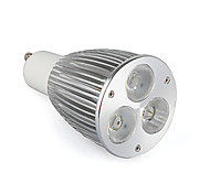 GU10 9W LED Spotlight 3 High Power LED 900 LM Warm White MR16 AC 85-265 V