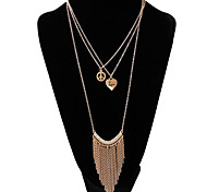 MPL Europe exaggerated full diamond orange fringed Necklace