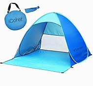 Automatic Pop Up Instant Portable Outdoors Quick Cabana Beach Tent Sun Shelter Nylon  Foldable Portable
