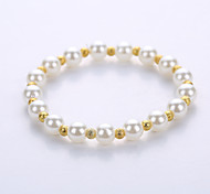 European And American Fashion Imitation Pearl Bracelet Men And Women Lovers Bracelet The Original Manual System Of A Single String