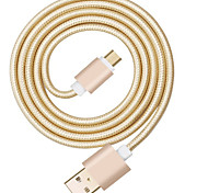 USB 2.0 Braided Cable For Huawei Sony LG Lenovo Xiaomi 100 cm Nylon