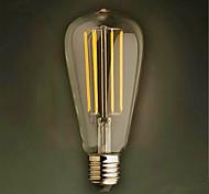 4W E26/E27 LED Glühlampen ST64 4 SMD 2835 320 lm Warmes Weiß Dekorativ V 1 Stück