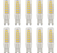 4W G9 LED Bi-pin Lights T 75 SMD 2835 420-440 lm Warm White / Cool White Waterproof AC110 / AC220 V 10 pcs