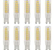 4W G9 2-pins LED-lampen T 75 SMD 2835 420-440 lm Warm wit / Koel wit Waterbestendig AC110 / AC220 V 10 stuks