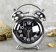Alarm Clock with Matel Case Modern Style In Sliver Color Silent Movment