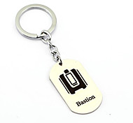 Inspired by Bastion Overwatch  Anime Cosplay Accessories Keychain Silver Alloy
