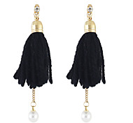 New Design Imitation Pearl Tassel Chain Earrings Jewelry