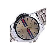 Men's Wrist watch Quartz Alloy Band Casual Silver