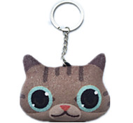 Key Chain Cat Key Chain Yellow Cotton
