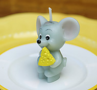 The Chinese Zodiac Mouse Shaped 3D Candle Mold Silicone Fondant Cake Mold Form For Soap Clay Mold Salt Carving Mould