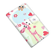 Plum Owl PU Leather Full Body Protection Cover with Stand and Card Slot for Nokia Lumia N625