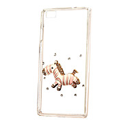 DIY Attractive Hobbyhorse with Rhinestones Pattern PC Hard Case for Multiple Huawei P8/P8 Lite