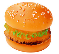 Jouets pour Animaux Interactif Jouets sonores Durable Hamburger Caoutchouc
