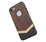 Für Stoßresistent Hülle Rückseitenabdeckung Hülle Holzmaserung Hart Holz für Apple iPhone 7