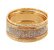 Women's Wrap Bracelet Alloy Simulated Diamond Punk Simple Style Silver Golden Jewelry 1pc