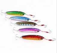 1 pcs Hard Bait Fishing Lures Hard Bait Random Colors Hard Metal Plastic Sea Fishing