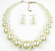 Jewelry Set Pearl Pearl Black Dark Blue Red Dark Red Black/White Daily 1set 1 Necklace 1 Pair of Earrings Wedding Gifts