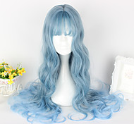 Sweet Lolita Lolita Curly Blue Lolita Wig 65cm CM Cosplay Wigs Wig For Women