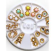 1pcs Nail Jewelry Gold Silver Large Diamond