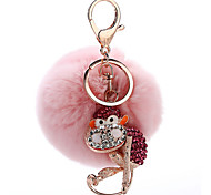 Key Chain Sphere Key Chain Pink Metal Plush