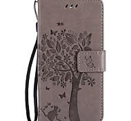 Для nokia lumia 650 950 pu кожаный материал кошка и дерево узор бабочка телефон чехол для люмия 640 435 635 550