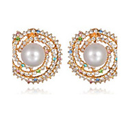 Earrings Pearl Rhinestone Alloy Fashion Jewelry Party 1 pair