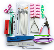 27pcs / set professionnelle kit de débutants à ongles