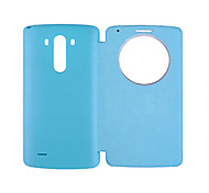 BIG D Ultra Slim Quick Circle Clear Window Flip Case for LG G3(Assorted Color)