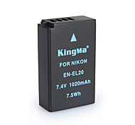 KingMa EN-EL20 BMPCC Digital Camera Battery for Nikon Coolpix A J1 J2 J3 S1 AW1 MH-27