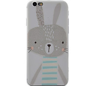 For Apple iPhone 7 7Plus 6S 6Plus Case Cover Rabbit Pattern TPU Material Painted Relief Phone Case
