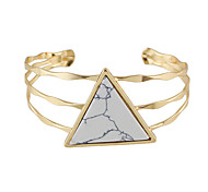 New Design Triangle Imitation Turquoise Wide Cuff Bangles Bracelets