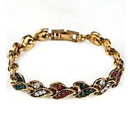 Damen Ketten- & Glieder-Armbänder Modisch Simple Style Strass Herzform Silber Golden Schmuck Für Alltag 1 Stück