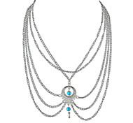 Fashion Silver Color Multilayers Chain Necklaces